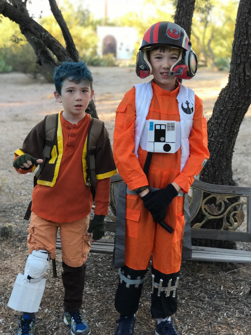 Star Wars Rebels Ezra Bridger Costume and Star Wars Force Awakens Poe Dameron Costumes