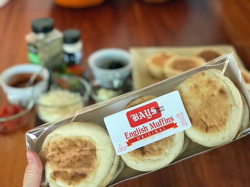 Bays English Muffins Pizza party Ingredients