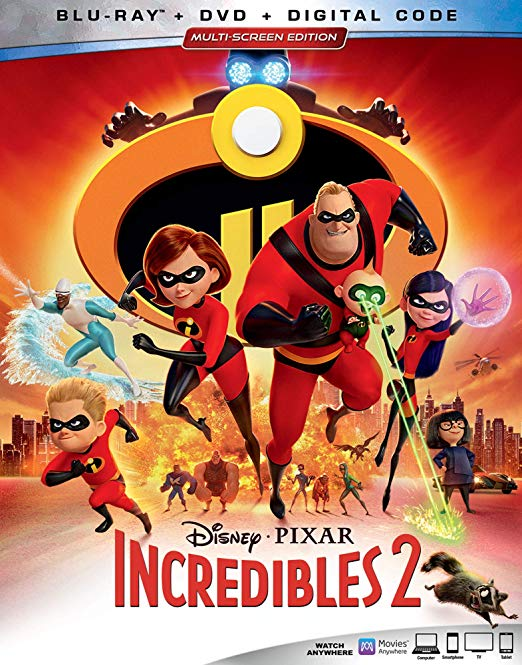Incredibles 2 Blu-Ray and DVD bonus features