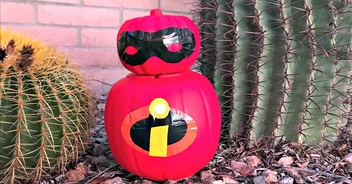 Make your incredibles pumpkin with craft pumpkins to use year after year