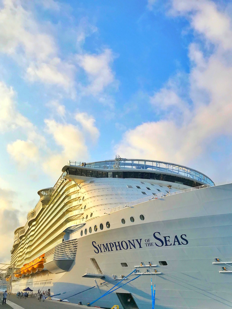 Royal Caribbean Symphony of the Seas Cruise Ship in port on Mediterranean