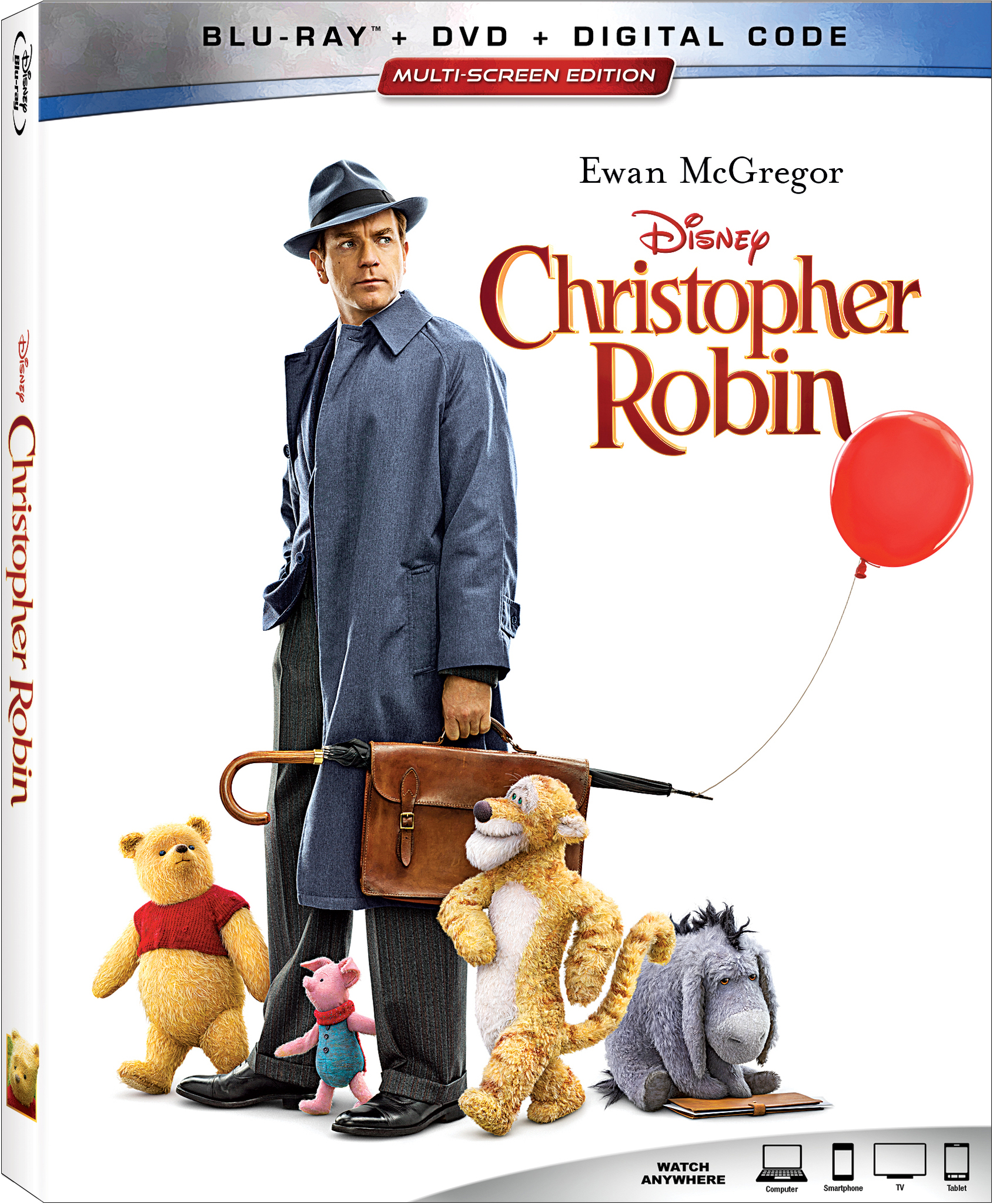 Watch the Christopher Robin DVD during a Winnie the Pooh party