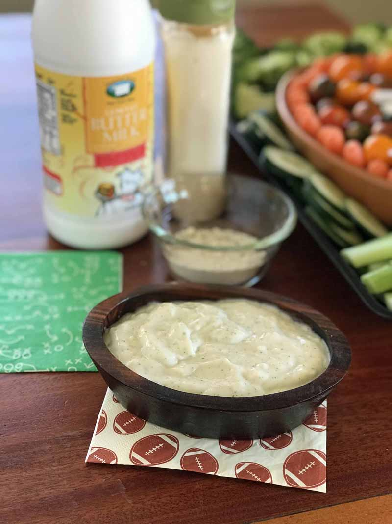 Easy ranch dip for football party with only 3 ingredients