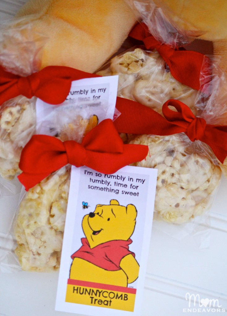 Winnie the Pooh party ideas like this treat recipe is a great party dessert or party favor idea