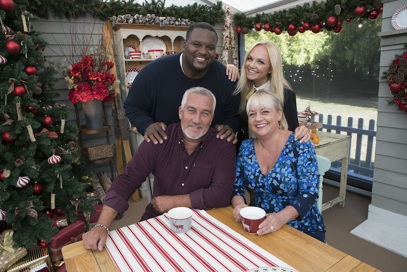 Hosts and judges of the Great American Baking Challenge Holiday Edition
