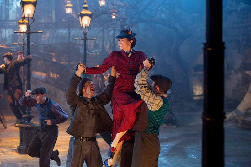 Mary Poppins in Trip a little Light fantastic dance scene with lamp lighters