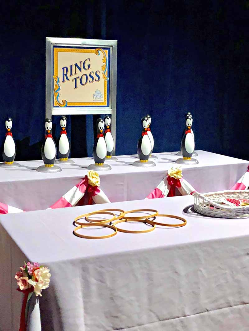 Ring Toss at Mary Poppins Returns Red Carpet Premiere Party
