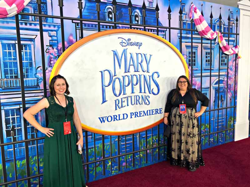 Walking the red carpet for the Mary Poppins Returns World Premiere