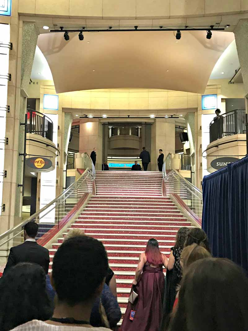 Walking the steps of the Academy Awards Dolby Theater