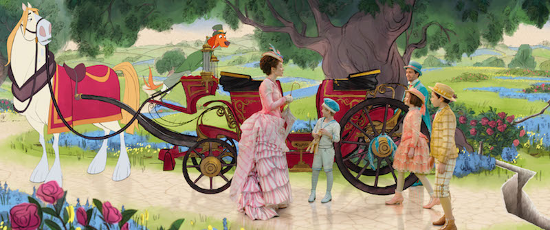 Hand Painted costumes in Mary Poppins Returns