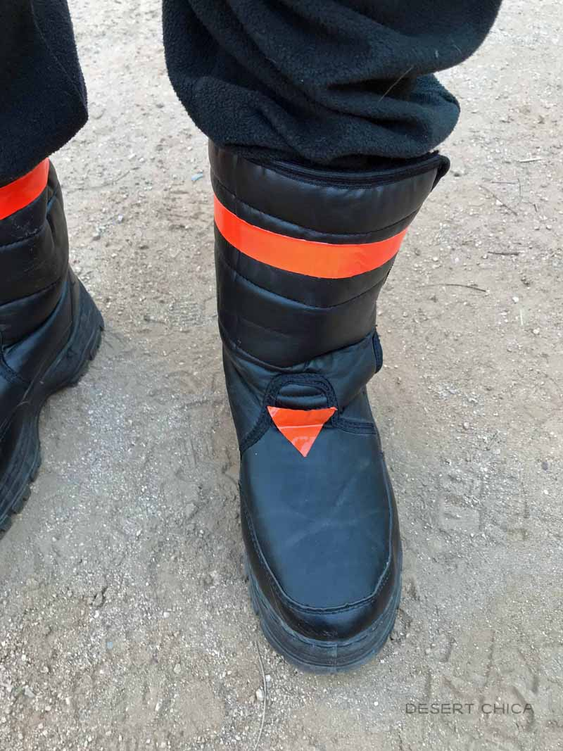 Add duct tape details to Fortnite Dark Voyager Costume boots
