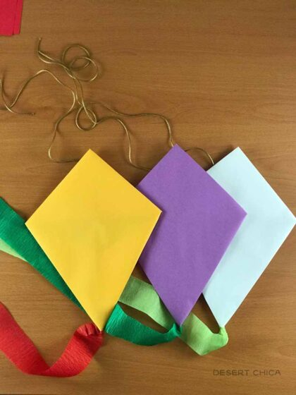 Mary Poppins Kite Craft for a party activity or DIY party decor