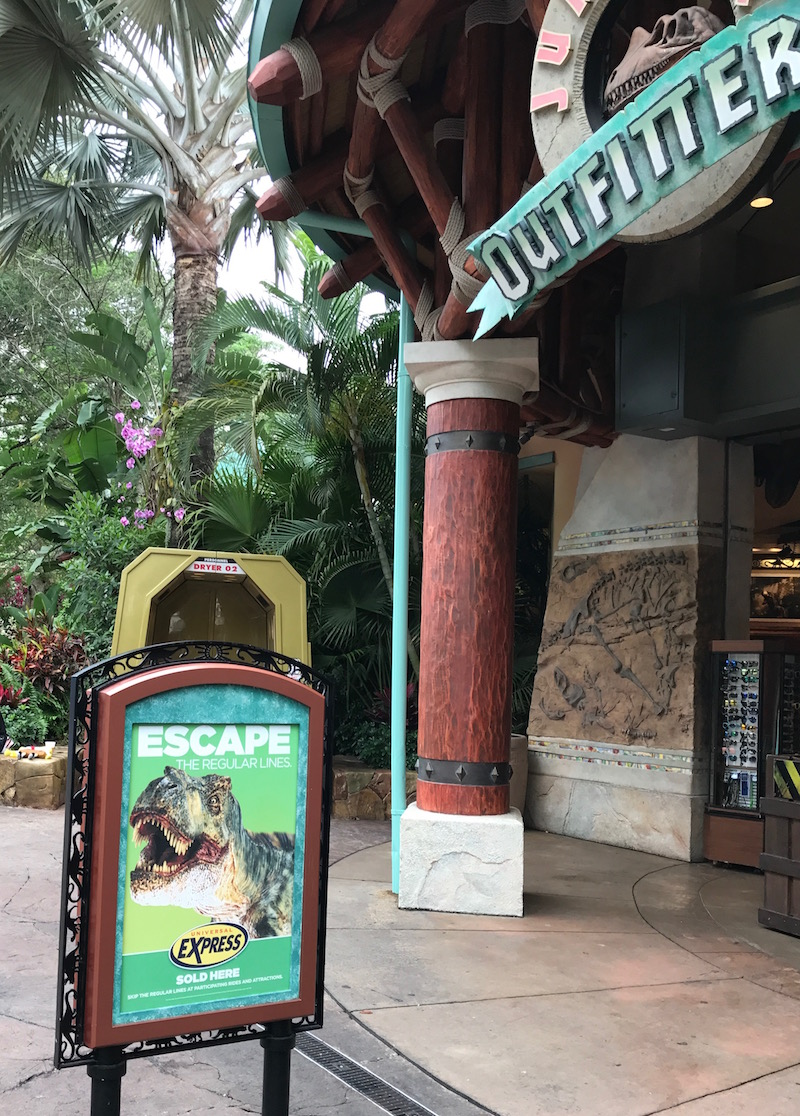 Buy a Universal Express Pass at many gift shops throughout the parks, think of it as like a Universal Fast Pass or a Universal Orlando Fast Pass