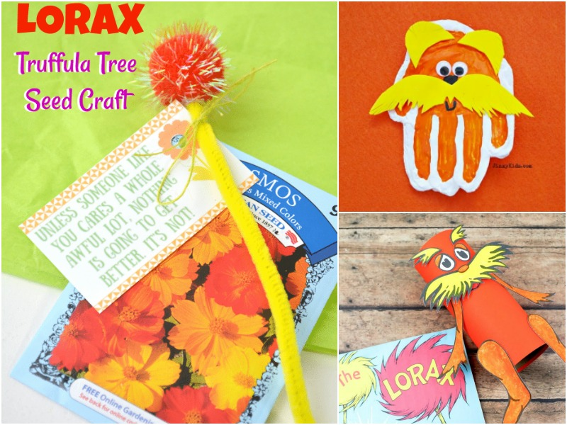 Lorax ideas for Celebrate Read Across America Week at School and home