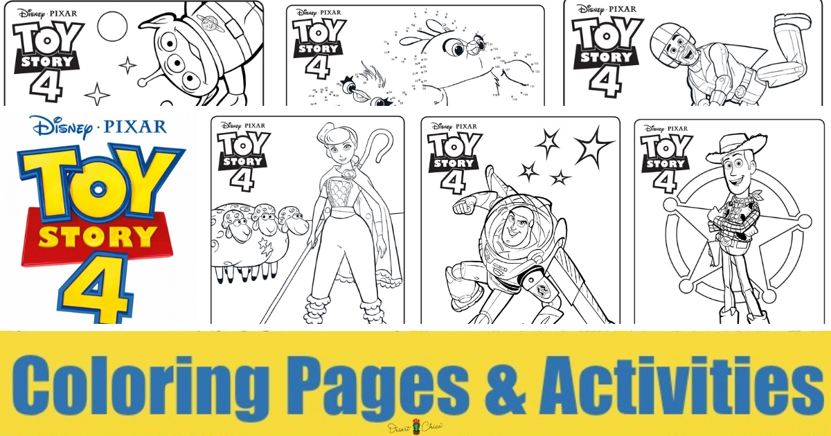 Toy Story 4 Coloring Pages and Activities | Desert Chica