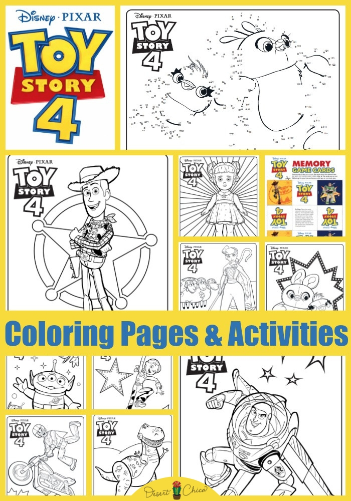 Toy Story 4 Coloring Pages And Activities Desert Chica