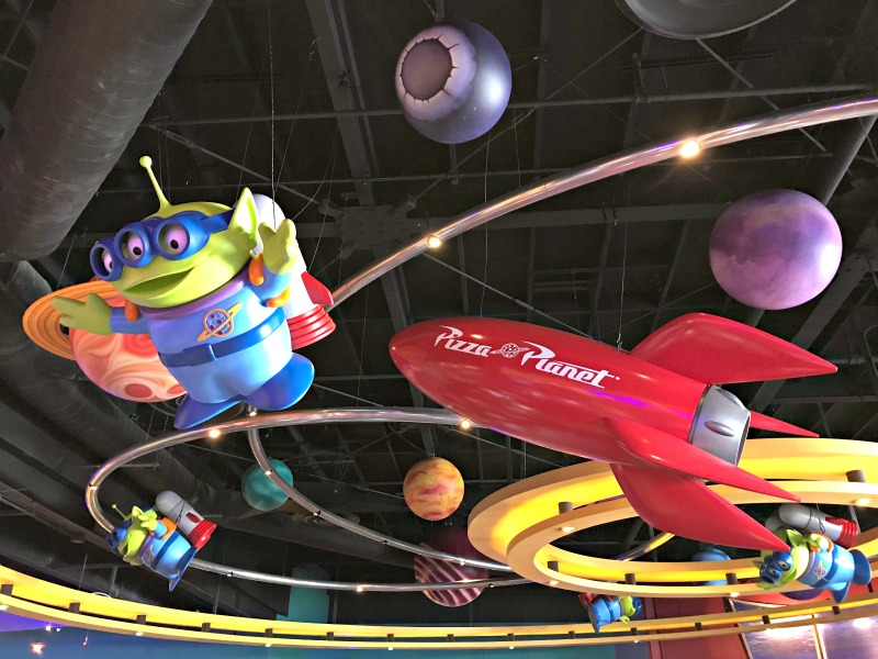 Eat Toy Story Food at Pizza Planet for Disneyland Scavenger Hunt