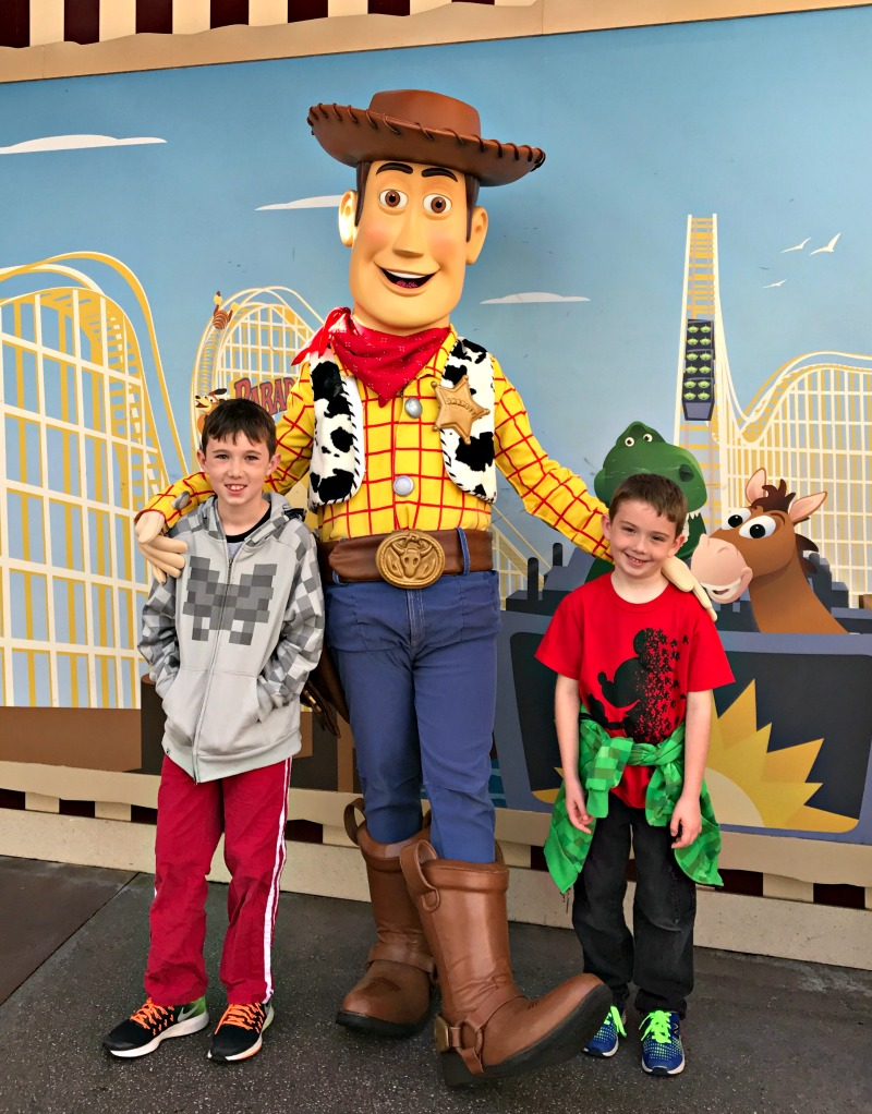 Toy Story Meet and Greet for a Scavenger Hunt at Disneyland