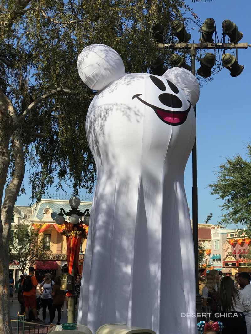 Mickey Ghost head decoration at Disneyland