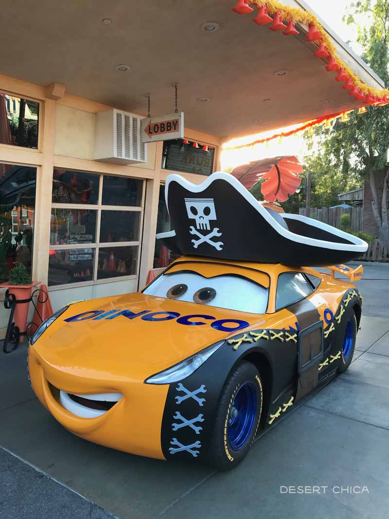 Cars Land Car dresed up for Halloween
