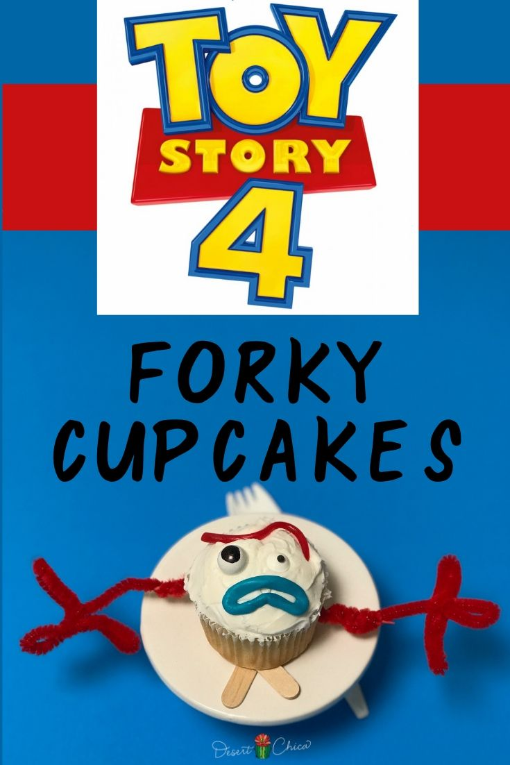 Forky Styled Cupcakes