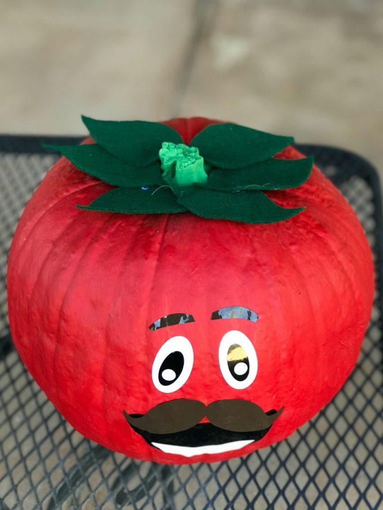 red tomato head no carve pumpkin