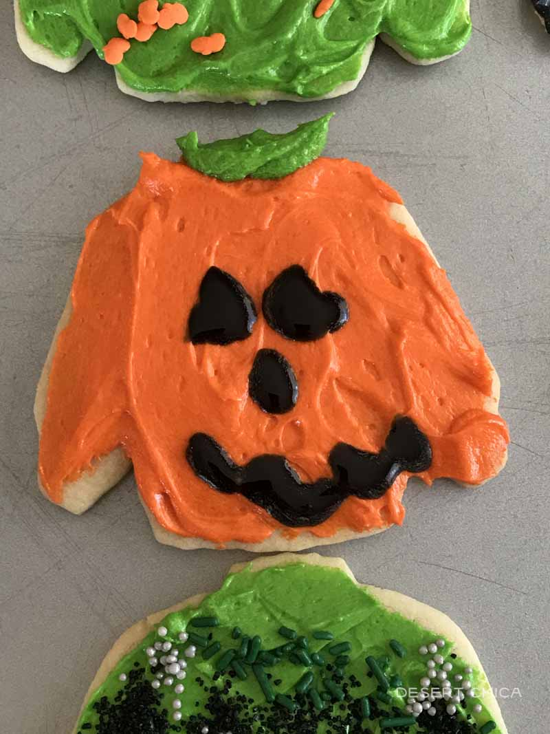 Jack of latern designed halloween cookie