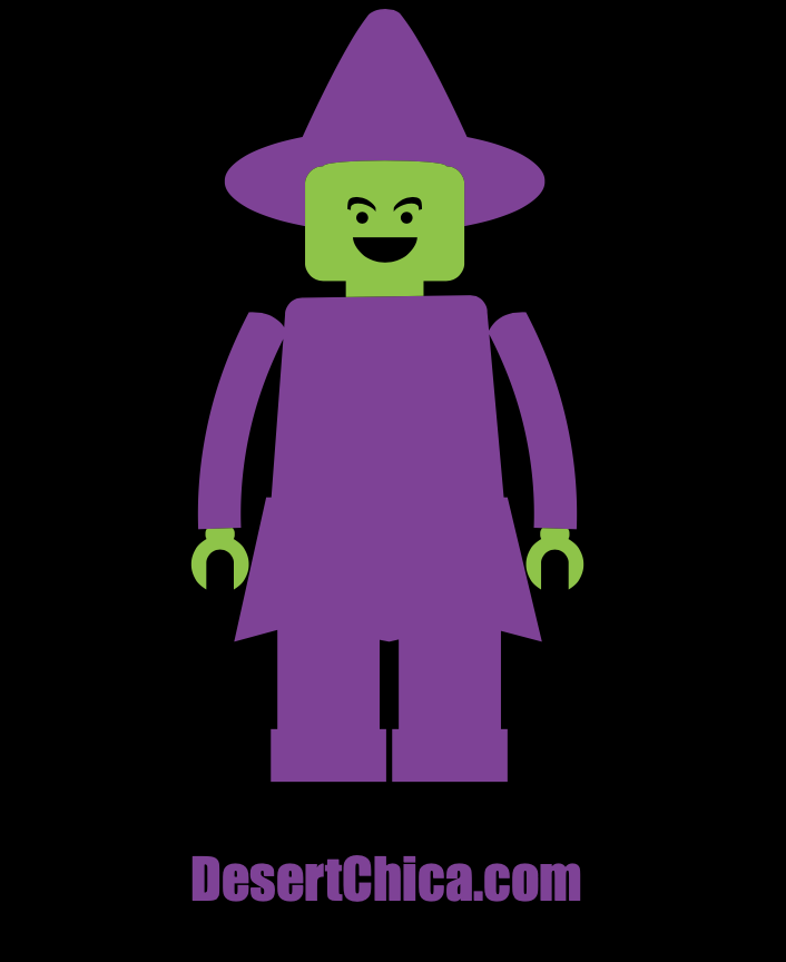 Purple and Green LEGO Minifigure Witch