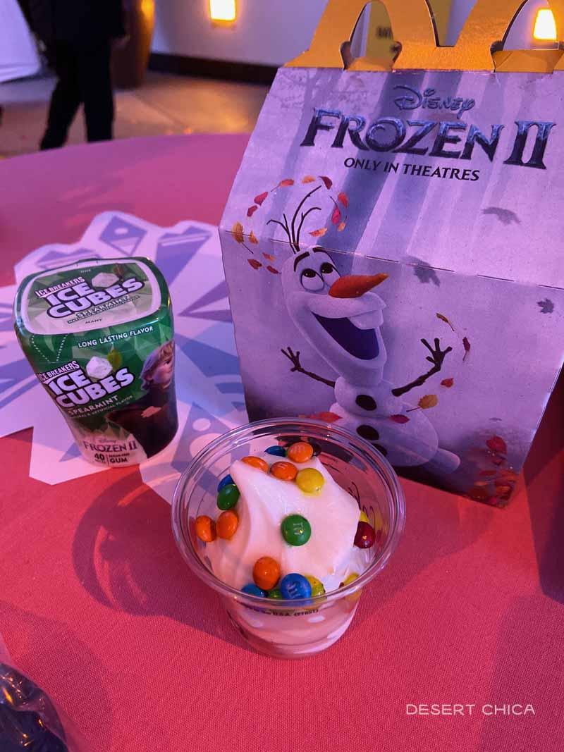 Frozen McDonalds Happy Meal, Ice Cream and Gum
