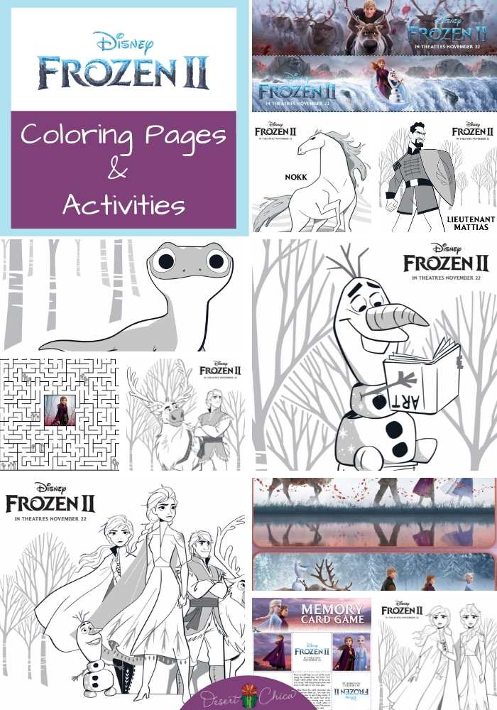 Frozen 2 Coloring Pages And Activities Desert Chica
