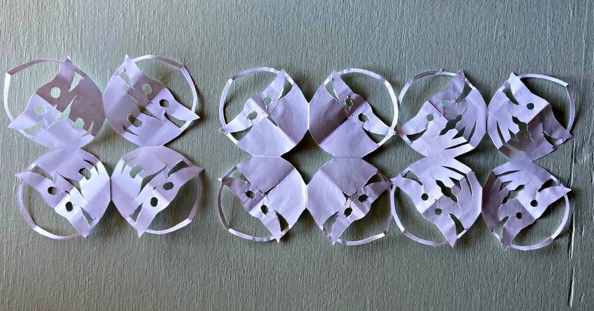 handmade snowflakes themed to Baby Yoda