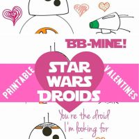 Star Wars Droids Valentines Cards