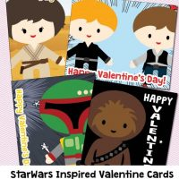 Star Wars Non Candy Valentines: Light Saber Cards
