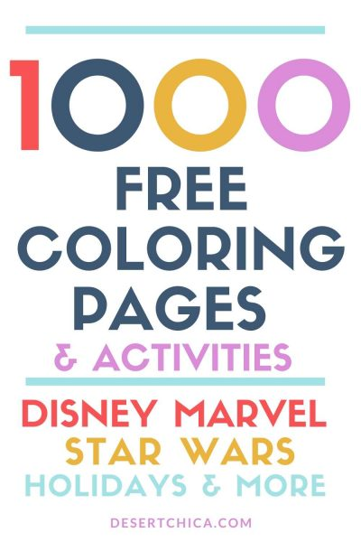 Over 1000 Free Coloring Pages and Activities