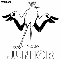 STORKS Printable Coloring Pages