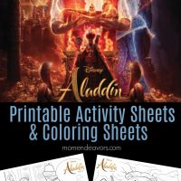 Disney's Aladdin Printable Activity Sheets & Coloring Pages