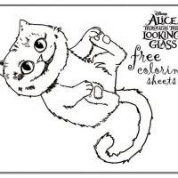 Alice coloring sheet and printables