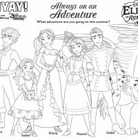 Elena of Avalor Coloring Page
