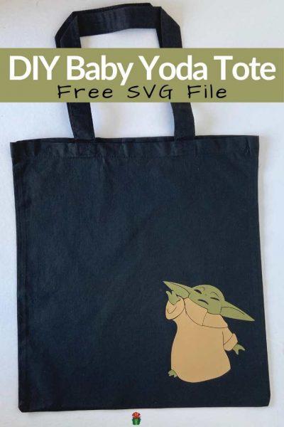 DIY Baby Yoda Tote