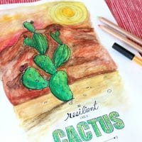 Cactus Resilience Quote Coloring Page for Adults