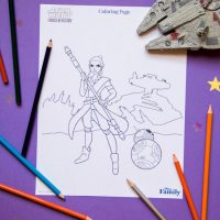 Star Wars 'Forces of Destiny' Coloring Page
