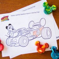 Mickey and the Roadster Racers Coloring Page #1