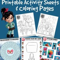 Disney Ralph Breaks The Internet Printable Activity Sheets & Coloring Pages