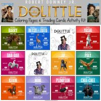 Free Dolittle Coloring Pages and Trading Cards