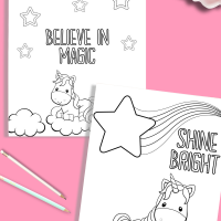 Printable Unicorn Coloring Pages - Just What We Eat