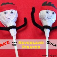 Jake and the Neverland Pirates Suckers
