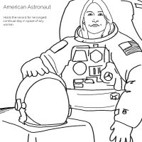 FREE coloring pages celebrating the All Female Astronaut Space Walk!