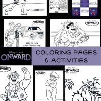Pixar Onward Coloring Pages and Activities