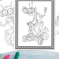 Printable Robot Coloring Pages