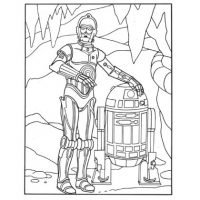 R2-D2 and C-3PO Coloring Page